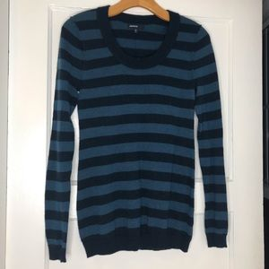 GAP indigo and navy blue stripe maternity sweater